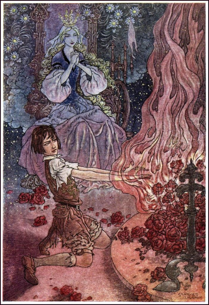 The fire of roses from